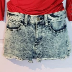 express acid wash shorts
